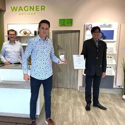 Paul Wagner – drittbester Augenoptikerlehrling Österreichs!